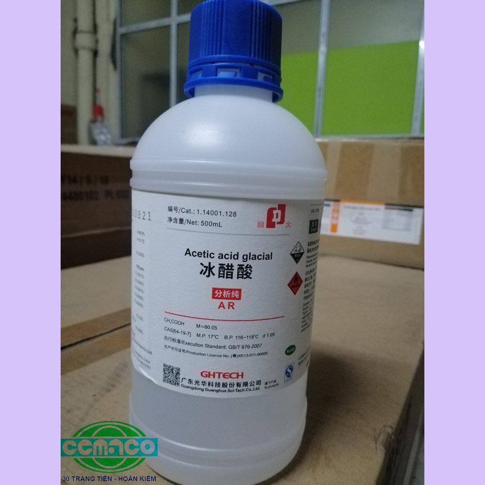 Acetic acid glacial – CH3COOH